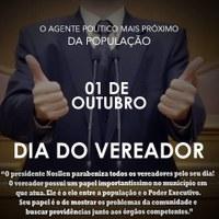 DIA 1° DE OUTUBRO, DIA DO VEREADOR
